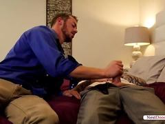 Hot gays playing with their big dicks.visit nextdoorbuddies.me