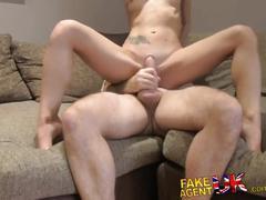 Fakeagentuk anal acrobatics from italian babe in porn casting