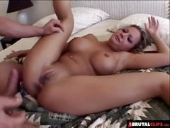Brutalclips - poor blonde gets her holes roughed up