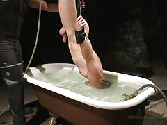 gay bdsm, gays, gay handjob, suspended, underwater, upside down, breath play, slapping, torture, 30 minutes of torment, kink men, dylan knight