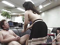 Arousing japanese babes getting down and dirty in public