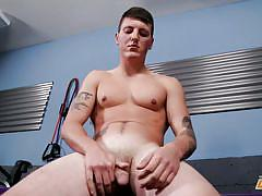 gays, gay solo, tattooed, muscled, sports, masturbating, boxing, next door male, next door world, troy clark