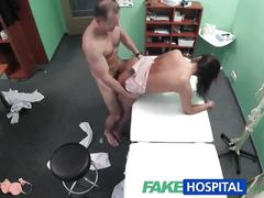 big tits, brunette, reality, fakehospital, voyeur, pov, amateur, hospital, black-hair, cocksucking, natural-tits, pussy-eating, big-boobs
