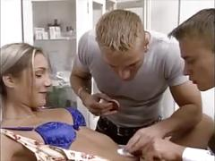 Blonde german girl double penetration