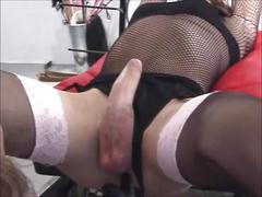 British domme uses her tied sissy