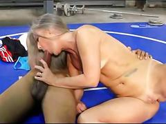 Granny fucks yoga instructor