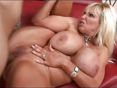Huge tits old pornstar fucking