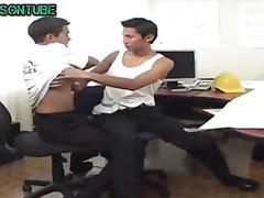 Boy fun at the office cum