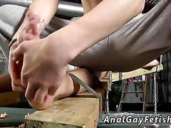 Bound twink kissed and tickled by a skinny master