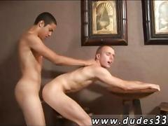 Fit college boy gets his ass spanked with a cock