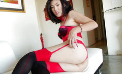 amateur, masturbation, small tits, asian, lingerie, tranny
