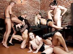 Cages ass gapes blowjobs and cumshots party orgy