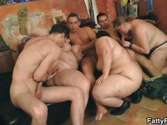 Hot group bbw orgy in the bar video