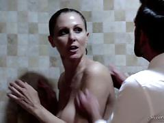 Mature blonde julia ann getting a bathroom pounding
