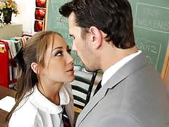 remy lacroix, brunette, blowjob, riding, doggystyle, cumshot, facial, teacher, student, desk, socks, masturbation, heels, cowgirl, schoolgirl, pussy licking, uniform, spooning, sucking, masturbate