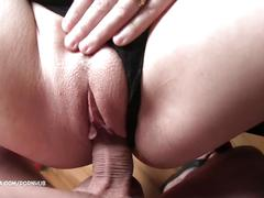 Accidental creampie :) - breaking in our humping chair