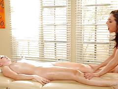 Oily massage sex with gracie glam and samantha rone