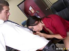 Alison tyler gets shafted at the office