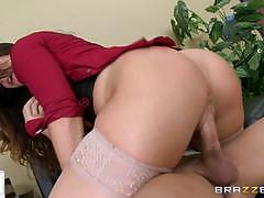 alison tyler, blowjob, riding, big tits, doggystyle, cumshot, facial, desk, office, reverse cowgirl, stockings, voluptuous, cowgirl, pussy licking, sucking