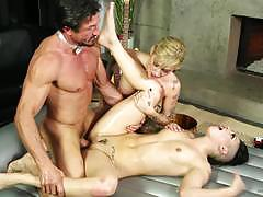 Hot tattooed hotties rachael madori and kleio valentien oiled up and fucked balls deep