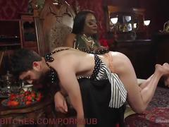 Humiliated and kicked in the balls by his mistress