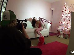 Classy lily carter behind the scenes