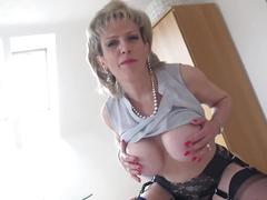 World nylons lady stroke big tits braless