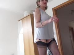 World nylons lady stroke big tits braless