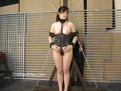 Kinky amateur bondage and whipping of lena in electro bdsm and hardcore dominati