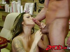 Female boss nadia styles fucked by stockboy