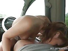 babe, japanese, outdoor, censored, car sex, pick up, cock riding, nipple sucking, outdoor jp, all japanese pass, aozora yamakawa