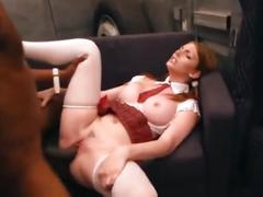 Teen lilith l@vey takes bbc from the ice cream