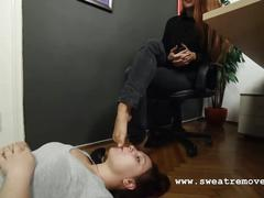 Goddess victoria's office foot worship