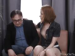 red head, russian, old/young, trickyoldteacher, redhead, old-and-young, hardcore, teacher, small-boobs, natural-tits, blowjob, pussy-licking, fingering, shaved, reverse-cowgirl