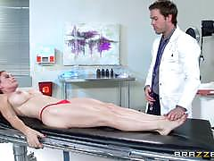 Hot doctor footjob with sexy milf diamond foxxx