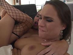 Cock hungry mckenzie lee and her friend pounded in their juicy pussies