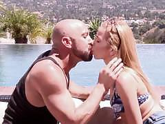Blonde hottie alina west takes a big dick by the pool