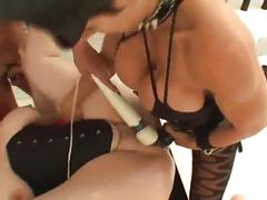 Gh sick femdom threesome strap on sex