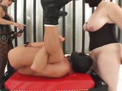 Gh sick femdom threesome strap on sex
