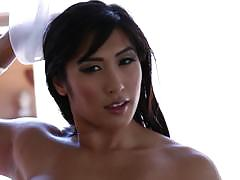 Mia li gobbles on dick and lana violet squirts alot