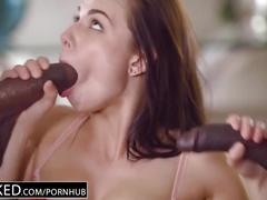 big dick, brunette, interracial, threesome, huge-cock, blacked, 3some, black, mmf, facial, creampie, lingerie, riding, cowgirl, doggystyle, big-dick, big-cock, bbc, blowjob, gagging