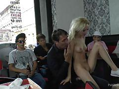 milf, blonde, blowjob, humiliation, sex slave, public disgrace, reverse cowgirl, on the table, public disgrace, kink, melanie x, tina kay, frank gun