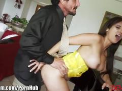 Devilsfilm cheating milf seduces employee