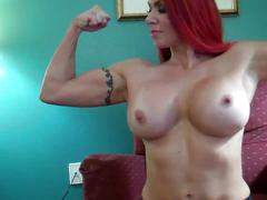 hd videos, muscular women, redheads, softcore, striptease, yoga