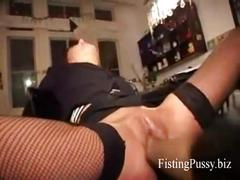 German girl fisted hard by boyfriend, fistingpussy.biz