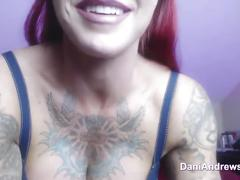 Dani toys with boytoy's cock