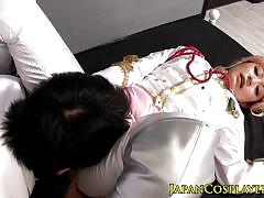 asian, facial, babe, oral, japanese, japan, uniform, fetish, costume, fantasy, closeup, missionary