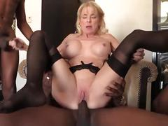Old pit boss takes black creampies