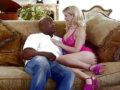 Husband watches on as cherie deville gets interracial fucking