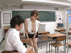 handjob, student, big tits, babe, japanese, teacher, school, brunette, censored, jp teacher, all japanese pass, anri okita